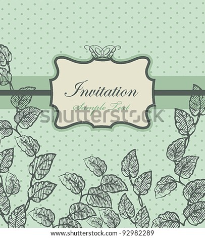 Vintage Card Design or package design