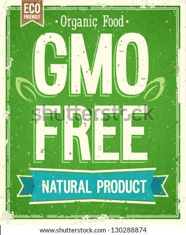 Vintage card - GMO free.