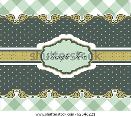 Vintage Card or package design