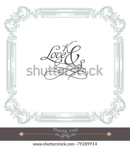 stock vector vintage card wedding card christmas