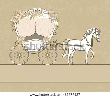 vintage card with carriage