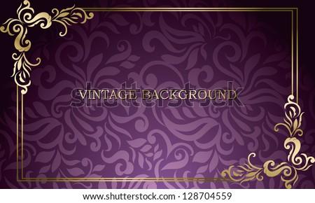 Golden floral business card vector design illustration download vintage card with floral frame visiting business card colourmoves
