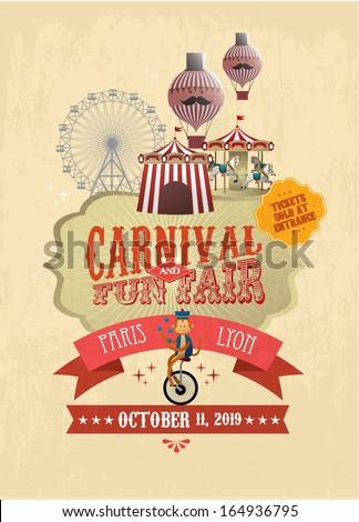 vintage carnival fun fair ...