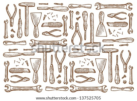 Vector Images Illustrations And Cliparts Vintage Carpentry Tools