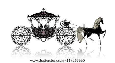 vintage carriage with horse