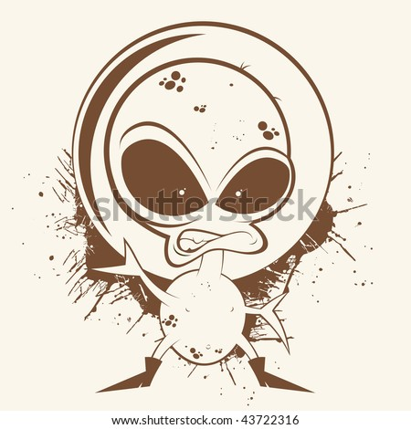 vintage cartoon alien