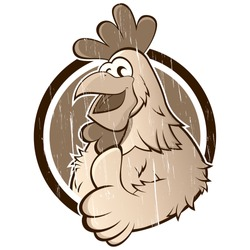 vintage cartoon chicken