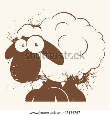 vintage cartoon sheep
