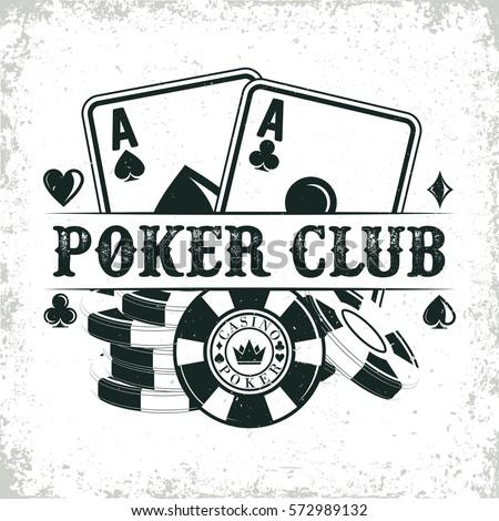 vintage casino logo design  ...