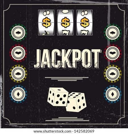 Vintage casino poster
