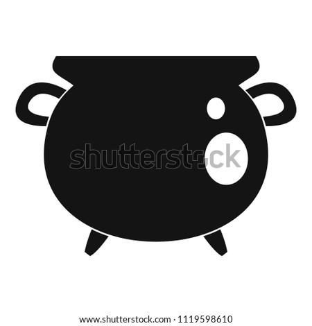 Vintage cauldron icon. Simple illustration of vintage cauldron vector icon for web design isolated on white background