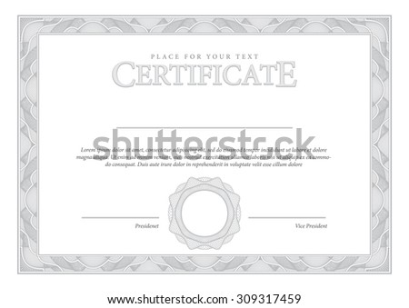 Vector secure guilloche certificate download free vector art vintage certificate award background gift voucher template diplomas currency vector illustration yadclub Image collections