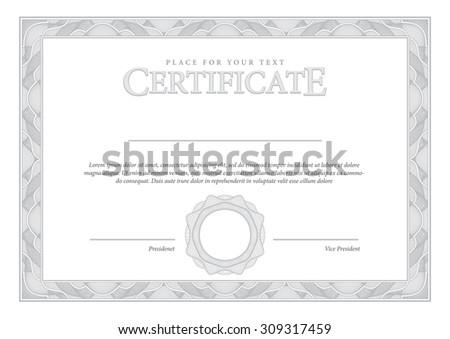 Vector Secure Guilloche Certificate Download Free Vector Art
