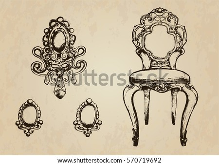 vintage chairs and earrings....