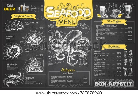 seafood menu templates download free vector art stock graphics