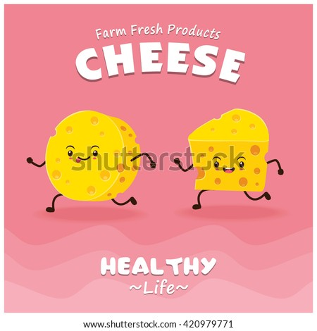 vintage cheese poster design