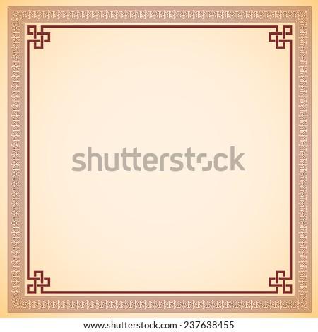 Vintage chinese frame vector design