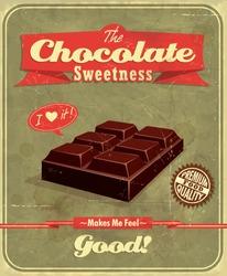 Vintage Chocolate  poster design