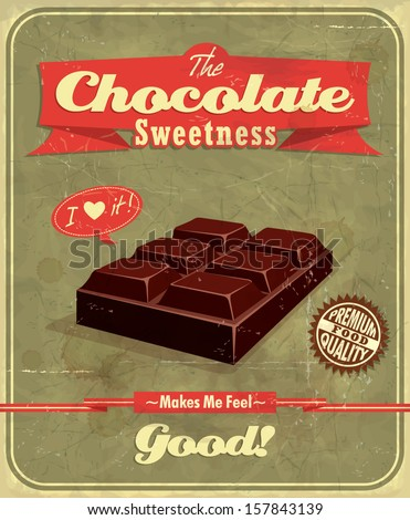 vintage chocolate  poster design
