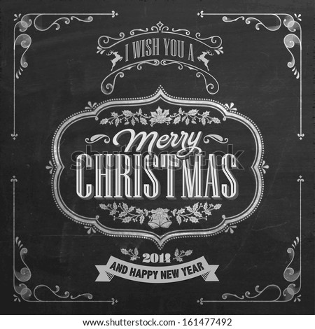 vintage christmas and new year...