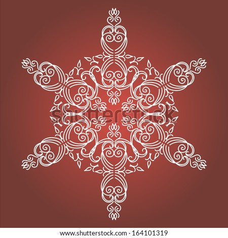 vintage christmas background with isolated snowflake for invitation backdrop card new year brochure