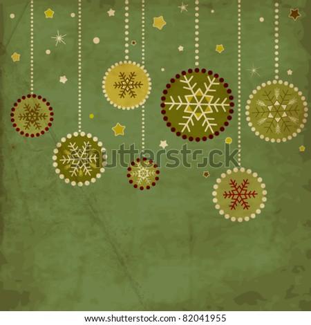 Vintage Christmas card - stock vector