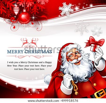 Santa Claus Illustration Design For Christmas Festival Download