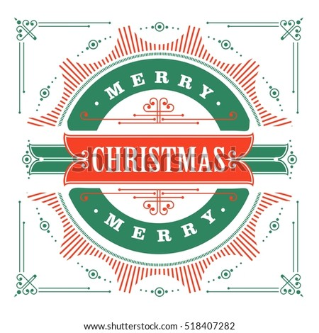 vintage christmas card on a