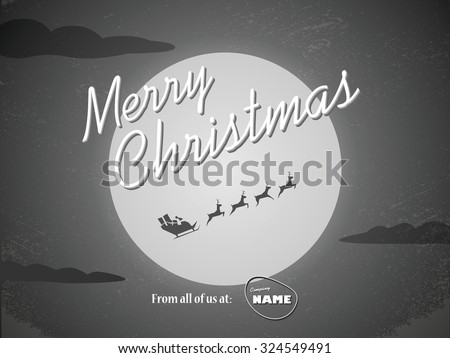 vintage christmas card template