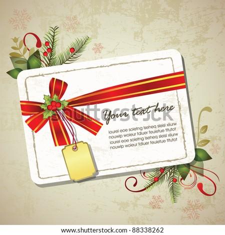 Vintage Christmas memo design