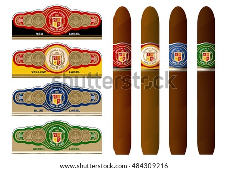 Free Cigar Label Vector - Download Free Vector Art, Stock Graphics ...