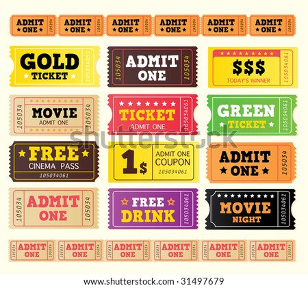Vintage cinema tickets. BIG COLLECTION. On movie or to Theater? Use my tickets! 12 DIFFERENT VARIANTS.