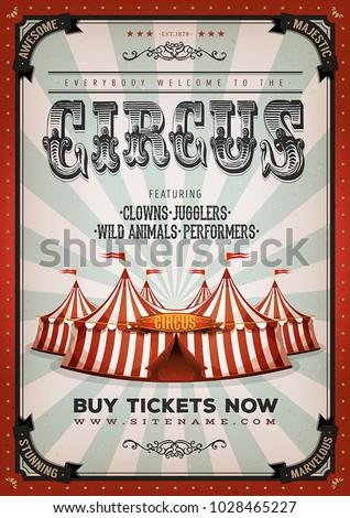 vintage circus background ...