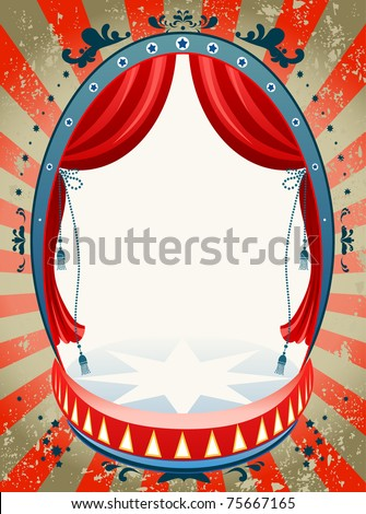 Vintage circus background  with space for text - stock vector