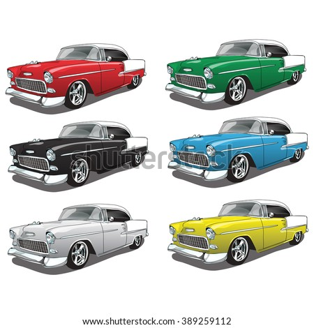 vintage classic car in multiple