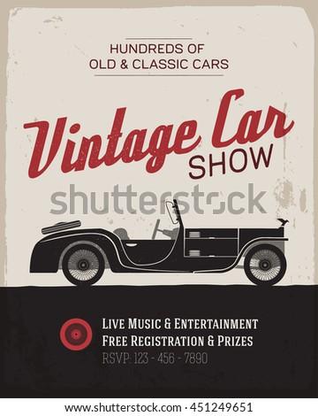 vintage  classic car show label