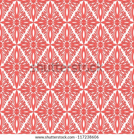 Vintage classic style seamless pattern, vector background.
