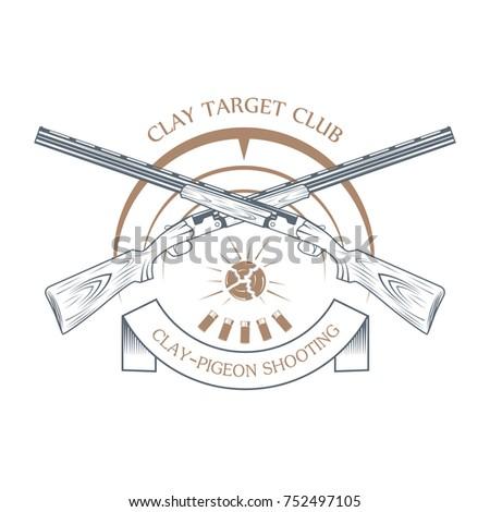 vintage clay target and gun