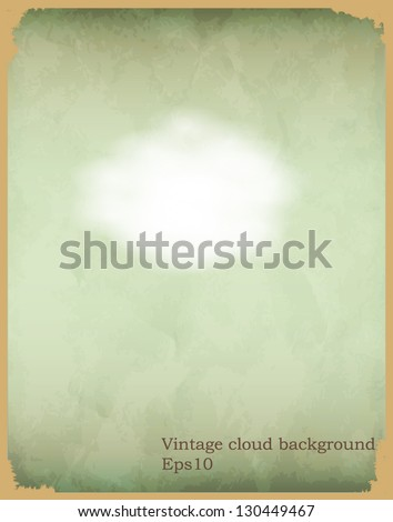 Vintage cloud poster background