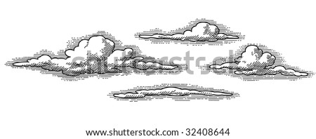 vintage clouds patterns  vector