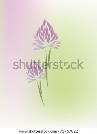 Vintage clover vector hand drawing isolated on pastel background (eps 10)