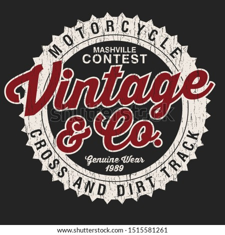 vintage co texs. grunge old sign vector Photo stock ©
