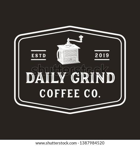 vintage coffee grinder logo
