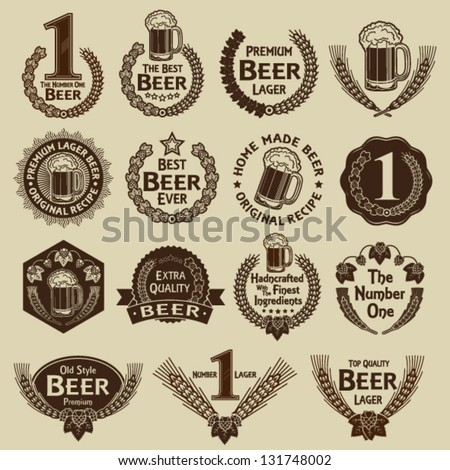 vintage collection of beer