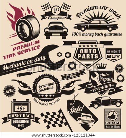 vintage collection of car