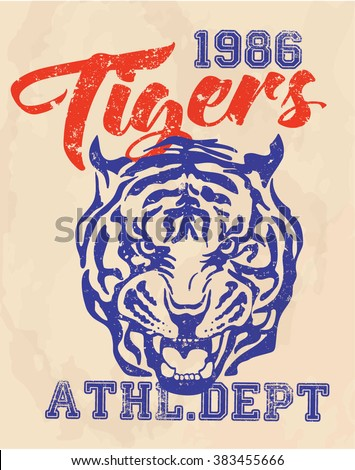 vintage college print design