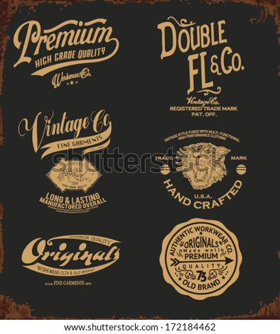 vintage college type collection