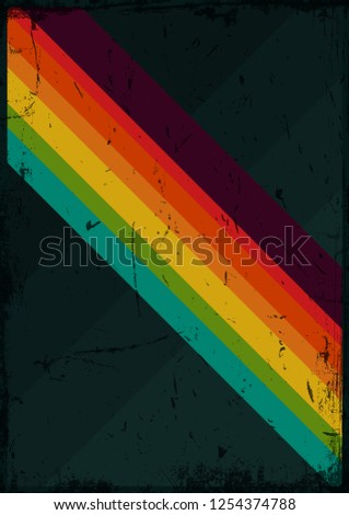 Vintage Color Background, Cover from the 1970s Grunge Effect