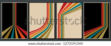 Vintage Color Backgrounds Set from the 70s