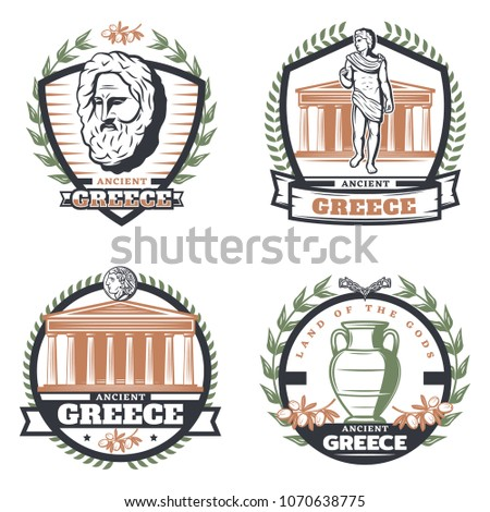 vintage colored ancient greece...